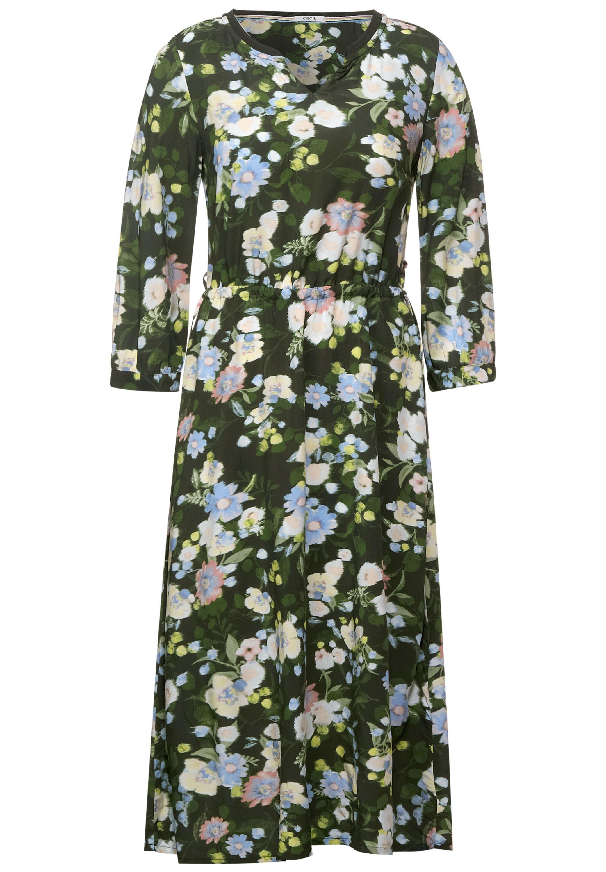 Midi Kleid mit Blumen Print