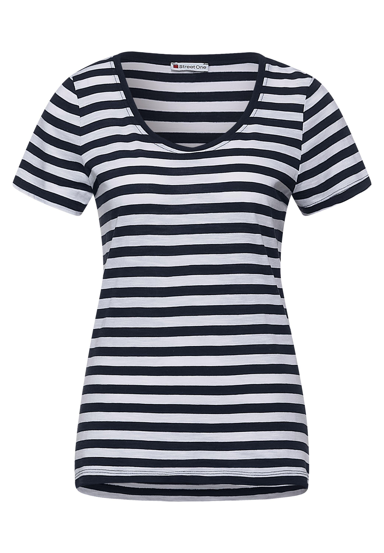 QR new Gerda T-Shirt im Streifen Muster